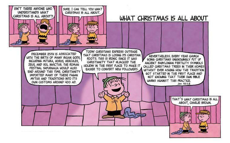 Peanuts christmas strip    altered