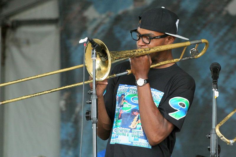 TBC_Brass_Band_Trombone_at_Jazz_Fest_2011