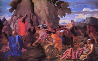 Poussin _Nicolas_-_Moses_Striking_Water_from_the_Rock_-_1649